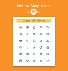 line online web shop and retail tiny icon set vector image