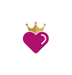 love king logo icon design vector image