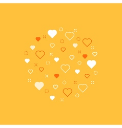 Love theme pattern with hearts vector