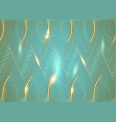 luxury golden old retro blue wallpaper art deco vector image