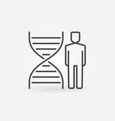 man with dna outline concept icon vector image