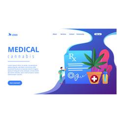 medical marijuana concept landing page vector image
