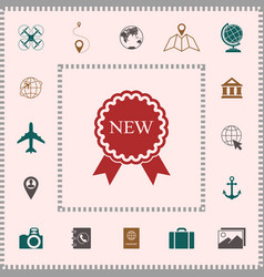 New offer icon with ribbons elements for your vector