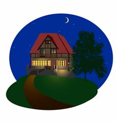 night house vector image