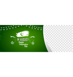 Pakistani independence day sale banner cover vector