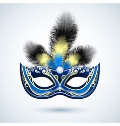 Party mask emblem vector image