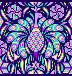 Pattern with peacock vector