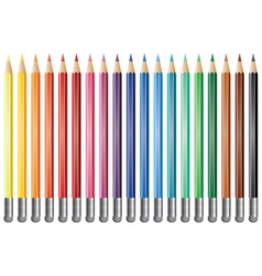 Pencils with eraser vector