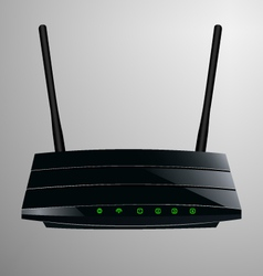 realistic a black router vector image