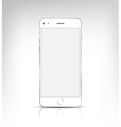 Realistic phone with empty screen vector