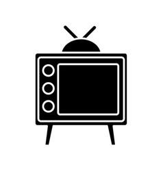 Retro television icon vector