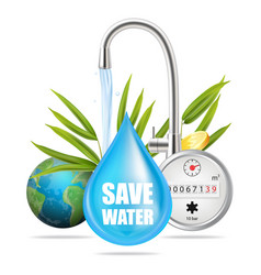 save water natural precious resource concept vector image