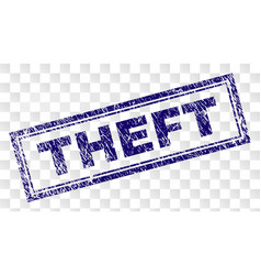 Scratched theft rectangle stamp vector
