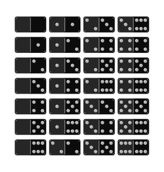 Set of domino flat icons objects for games vector