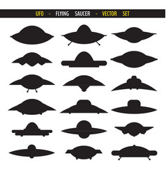 Simple flying saucer vector