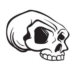 Skull6black vector