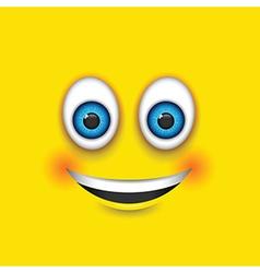 smiling square emoji vector image