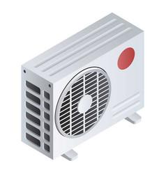 split air conditioner icon isometric style vector image