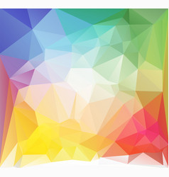 square low poly background multicolored vector image