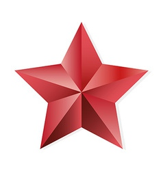 Star ruby isolated object vector image