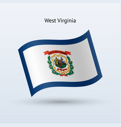 state west virginia flag waving form vector image