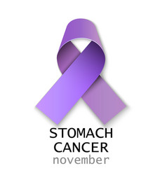 stomach cancer ribbon on white back vector image