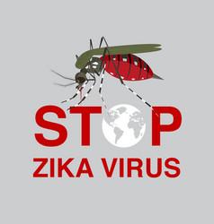 Stop mosquito flat icon designlogo vector