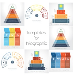 Templates for Infographics Business set 3 4 vector