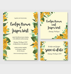 wedding floral invitation invite card vector image