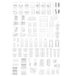 white packing vector image