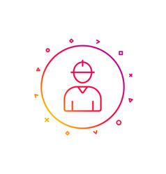 worker line icon male profile sign vector image