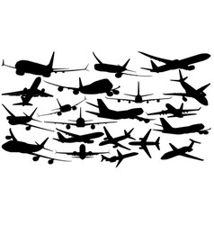 airliners vector image vector image