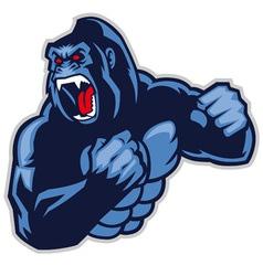 angry big gorilla vector image