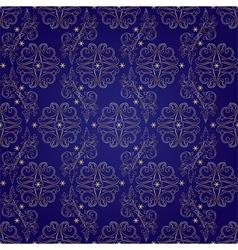 Floral vintage seamless pattern on violet vector image vector image