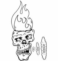 skull -w- glass eye vector image vector image