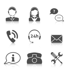 Support service icons set vector image vector image