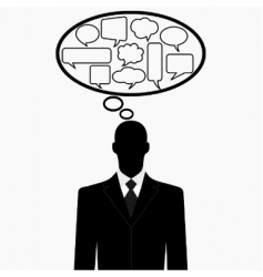 thinking man vector image vector image