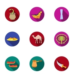 Arab Emirates set icons in flat style Big vector image