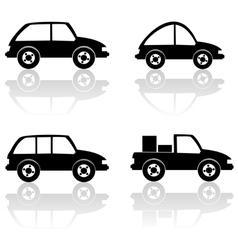 black cars vector image