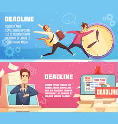 business work deadline horizontal banners vector image vector image