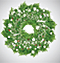 Christmas background with wreath vector image vector image