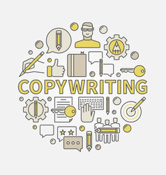 copywriting round colorful vector image vector image