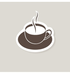 Cup of coffee for bar or cafe vector image