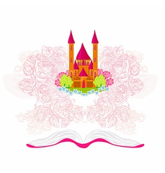 Magic world of tales fairy castle appearing from vector image vector image