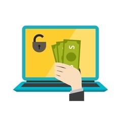 Money safety Internet safety vector image