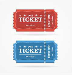 ticket icon blank admit set retro old style vector image vector image