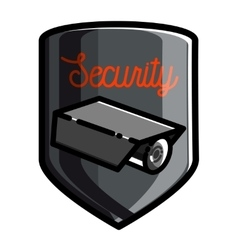 Color vintage security emblem vector image vector image