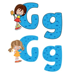 letter G girl vector image vector image
