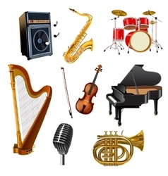 Musical Instruments Set vector image vector image