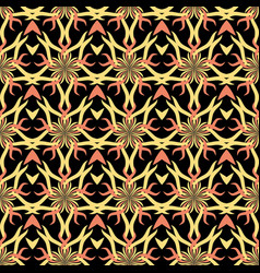 seamless abstract stars vintage black pattern vector image vector image
